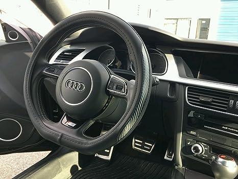 Car Accessory Warehouse AUDI Sport Design FLAT BOTTOM Exclusive Product Premium Leather and Carbon Fiber CF