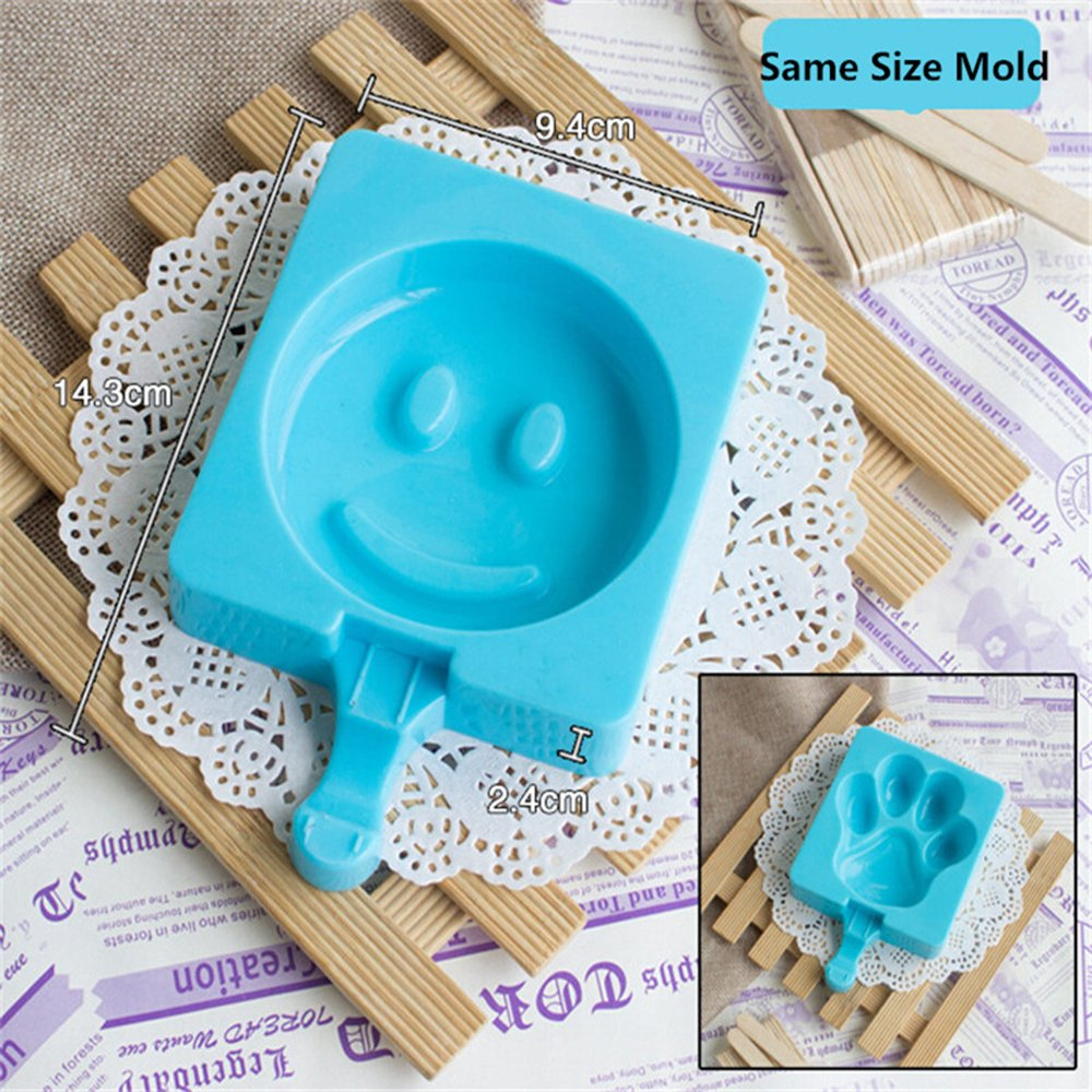 windaze (silicona), diseño Pop de hielo Ice Cream Bar molde Popsicle Mold DIY Ice Cream Maker BFA libre con carcasa de silicona y 20 de incienso de madera ...