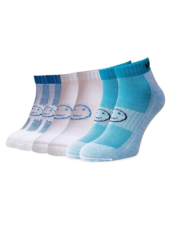3 Pair Saver Trainer Socks - Aqua Blues - 2-6UK