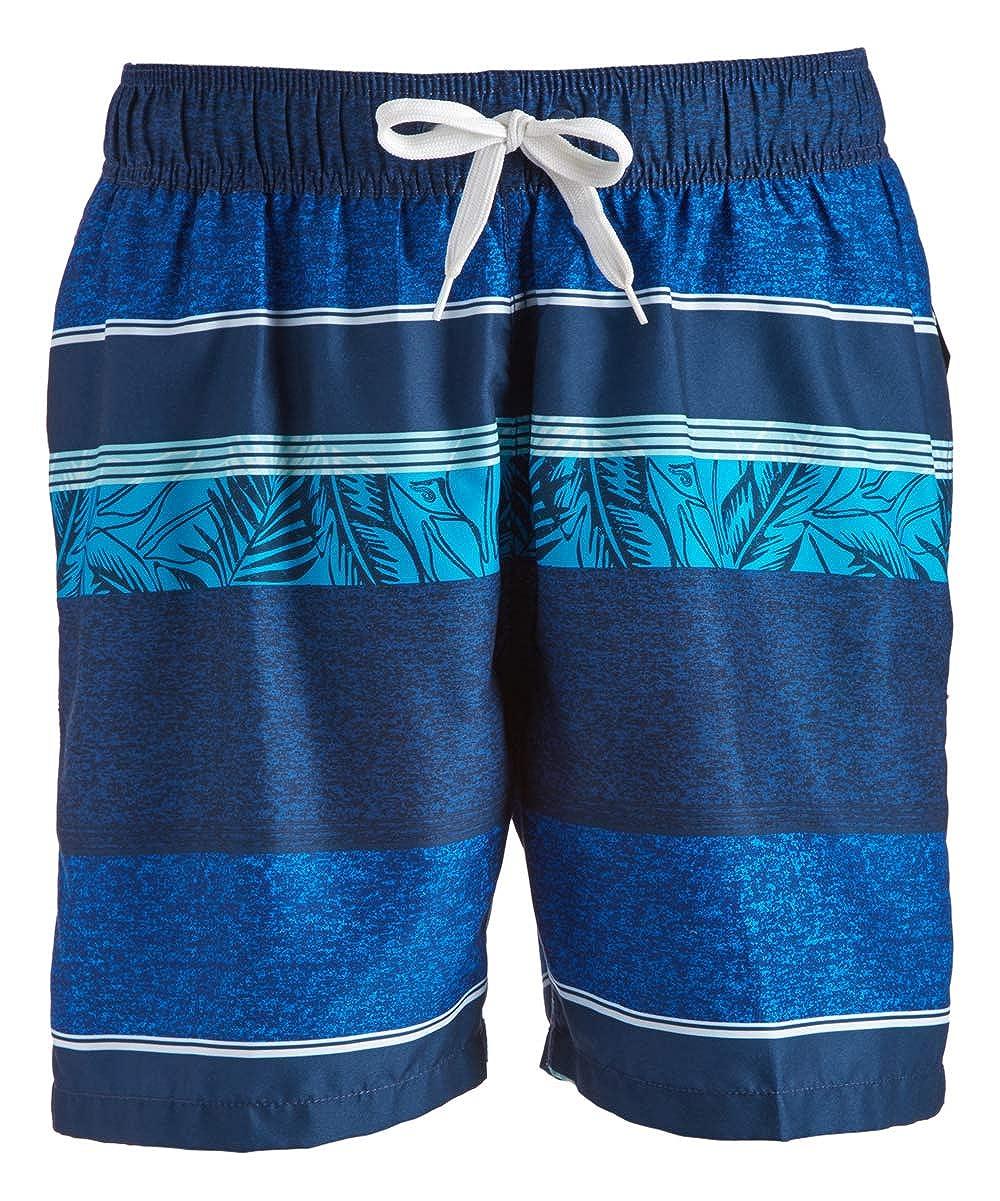 91fac64834 Kanu Surf Men's Fusion Stripe Quick Dry Beach Volley Swim Trunk | Amazon.com
