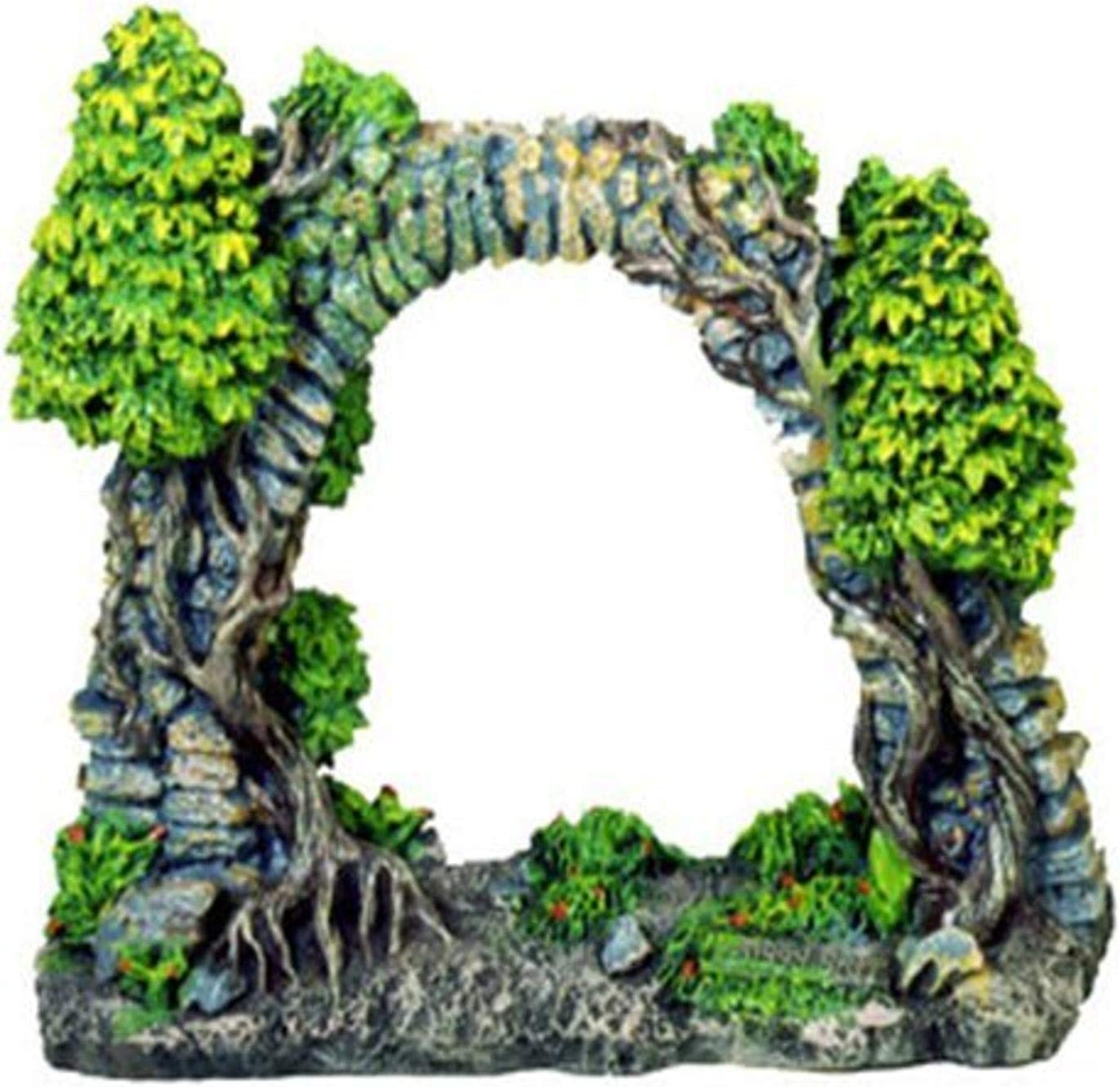 Exotic Environments Cobblestone Archway Aquarium Ornament, 7-Inch by 2-1/2-Inch by 6-1/2-Inch
