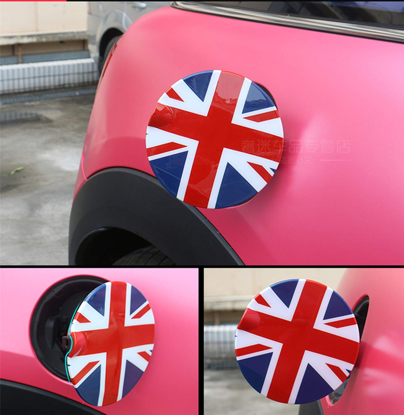HDX Gas Tank Door Fuel Cover Trim Cap ABS for Mini Cooper F54 Clubman F55 Hardtop F56 Hatchback F57 Covertible F60 Countryman F54 Clubman, Union Jack Gray