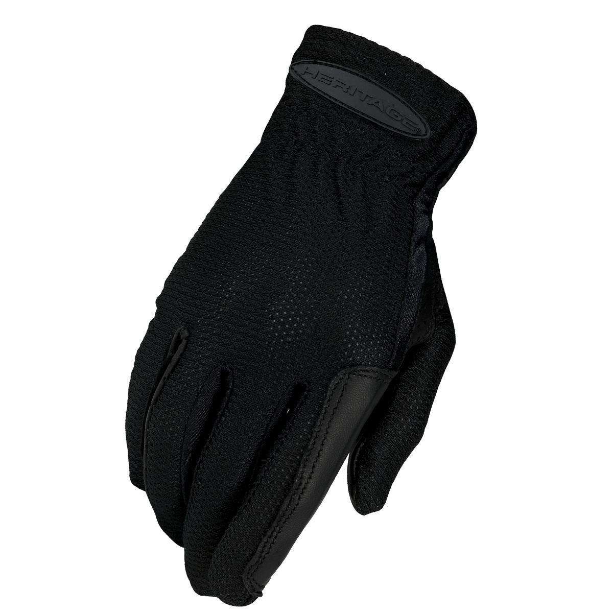Heritage Pro-Flow Summer Show Gloves, Size 11, Black