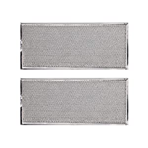 "KONDUONE 2-Pack of W10208631A Filter for Whirlpool Microwave Oven Grease Filter Approx. 13"" x 6"" -Replaces W10208631RP AP5617368 PS3650910 Grease Filter Aluminum Mesh Microwave Range Hood Filter"