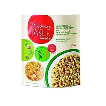 amazon com modern table meals mediterranean green lentil rotini rh amazon com modern table meals vegan modern table meals coupon