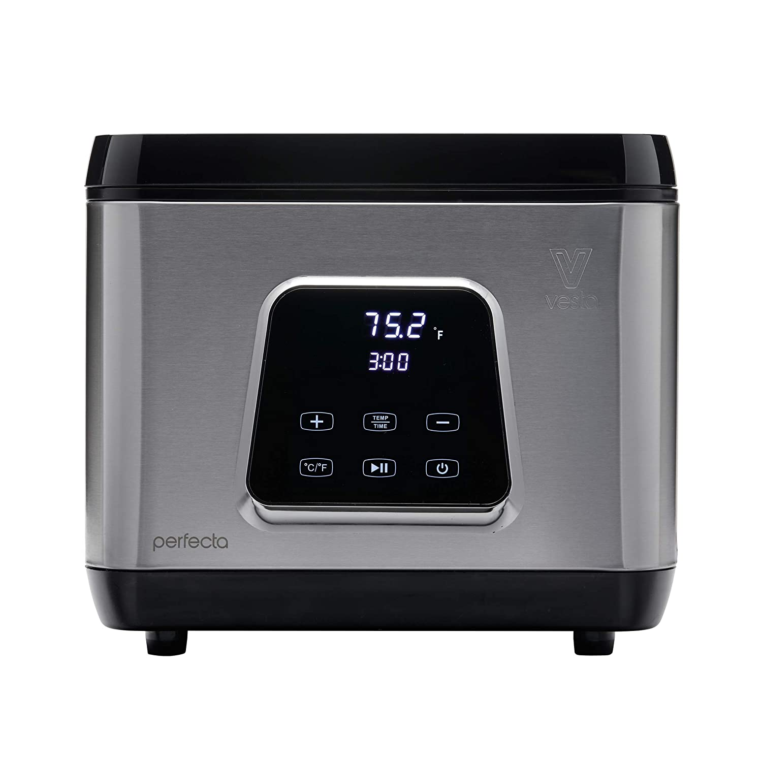 Sous Vide Water Oven by Vesta Precision - Perfecta | Powerful Pump Design | Accurate, Stable Temperature Control | Wi-Fi App Control | Touch Panel | Water Level Protection System | 650 Watts