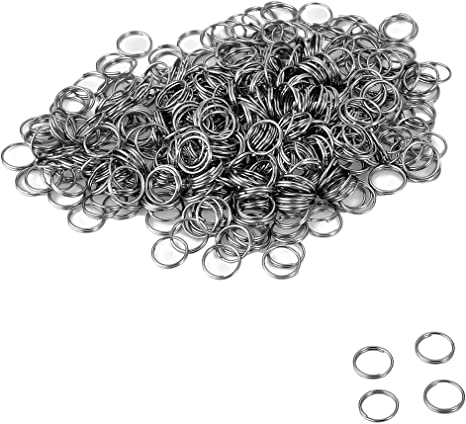 "2//8/"" VALYRIA 500pcs Stainless Steel Silver Split Key Ring Finding 7mm Dia."