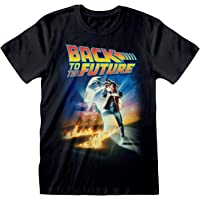 Back to The Future Movie Poster Men's T-Shirt | Official Merchandise | S-XXL, 1980s Movie Character Crew Neck Graphic…