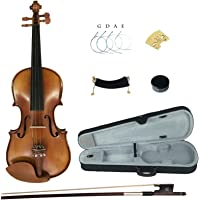 Kinglos YWA1005 1/2 Handcrafted Solid Wood Student Acoustic Violin Fiddle Starter Kit