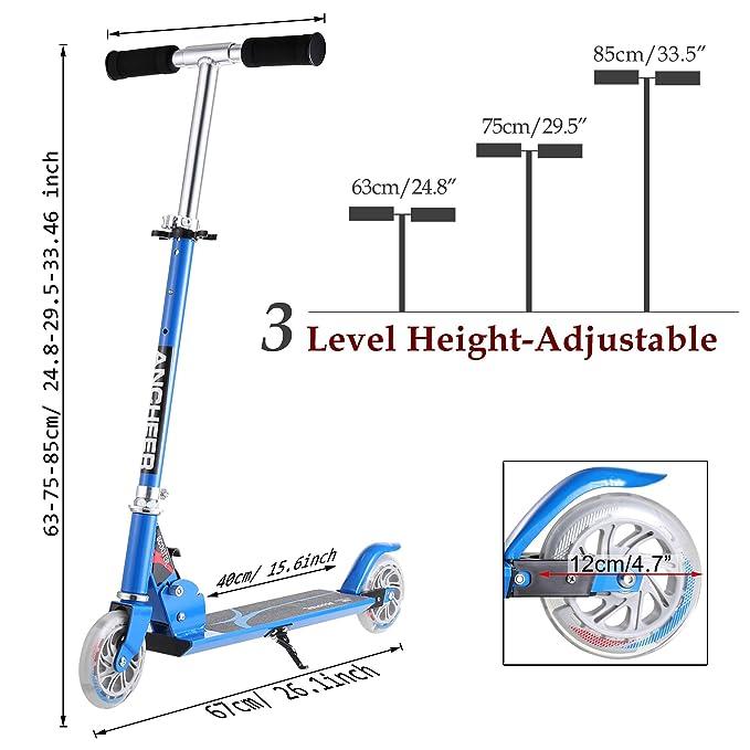 Amazon.com: Lululy - Patinete plegable para niños con altura ...