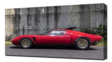 Amazon Com Lilarama Usa 1968 Lamborghini Miura Jota Svr V2 Canvas