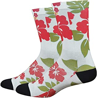 product image for DEFEET SUBALORD201 Sublimation Aloha Socks, Medium, White/Red/Green