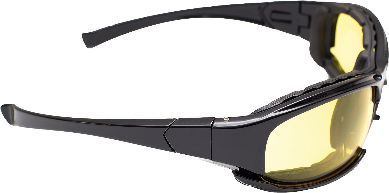Eagle ARINDROYAW Indroyaw: Gafas de protección Laboral Alta Visibilidad. Indicadas para: Trabajo + Moda + Sport. Cuenta con Lentes de policarbonato (PC) e Incluye: Funda de Microfibra y Banda elástica