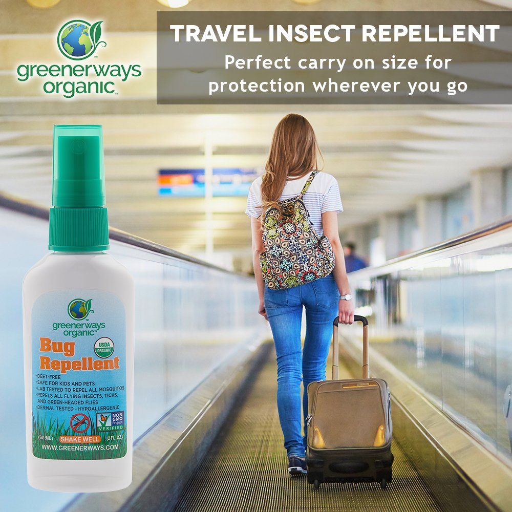 amazon com greenerways organic mosquito insect repellent travel