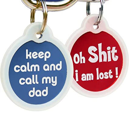 amazon com funny dog and cat tags personalized w 4 lines of custom