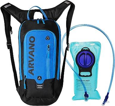6L Mini Bicicleta mochila impermeable, paquete de hidratación con mochila 2L bolsa de agua bicicleta de esquí bolsa de esquí Biking,respirable hombro mochila ligero para los deportes al aire libre: Amazon.es: Deportes