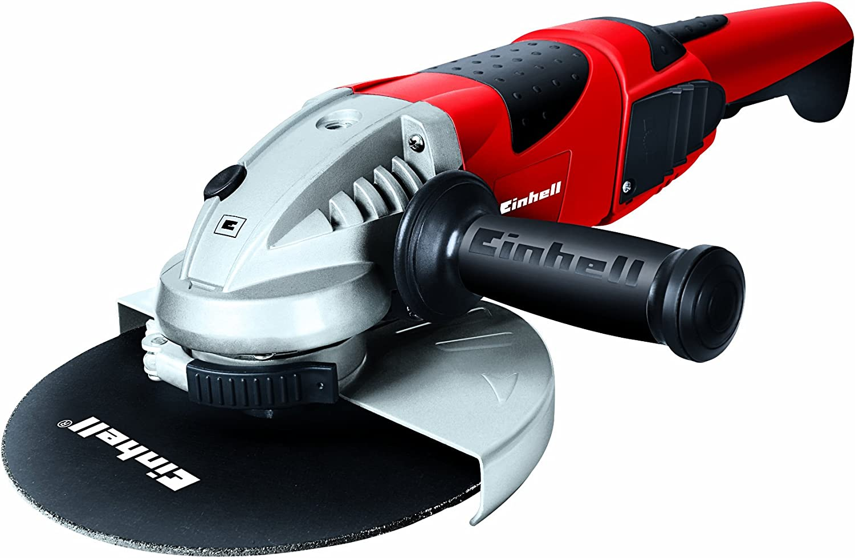 Einhell TE-AG 230/2000 Amoladora, 2000 W, 230 V, Rojo, 230mm, arranque suave, asidero giratorio, cubierta protectora (ref. 4430840)