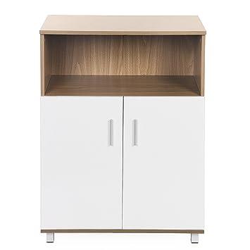 Aktenschrank holz  Songmics Büroschrank Aktenschrank holz Bücherregal mit Türen 70 x ...