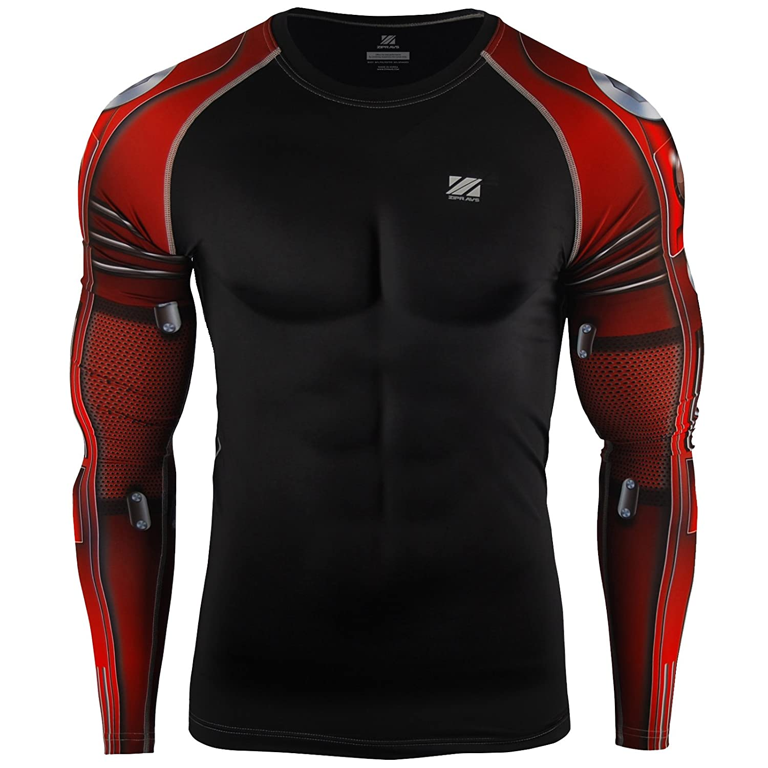 Zipravs Under Layer MMA Running Compression Shirt Long Sleeve