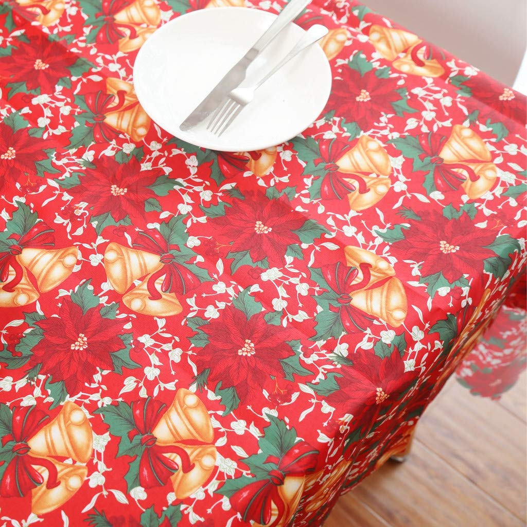 LUCOG No/ël Arts D/écoratifs D/écorations de table de No/ël cr/éatives pour nappes imprim/ées en tissu Beau Style Europ/éen Arts Craft pour Home D/écoration
