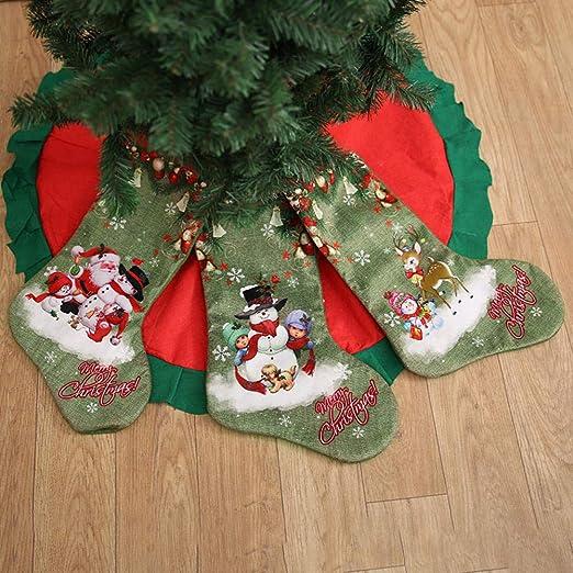 ShengDanW Decoración navideña Calcetines de Regalo Bolsas ...