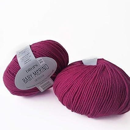 Amazon com: Superwash Merino Wool Yarn Drops Baby Merino