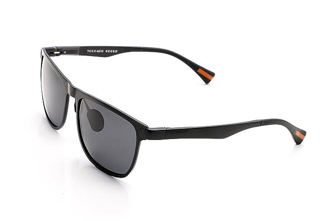 7e68024030 Yougarr Group Retro Wayfarer Sunglasses Polarized Metal Frame Classic  Vintage Design for men women (Black