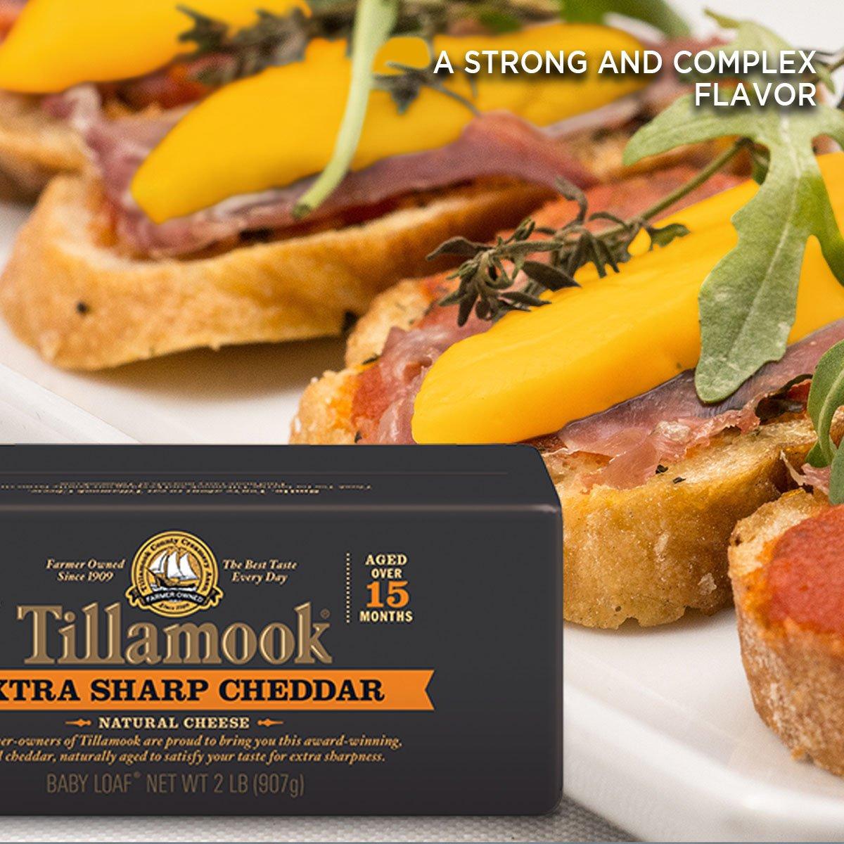 Tillamook Cheese 2lb Baby Loaf (Choose Flavor Below) (Extra Sharp Cheddar)