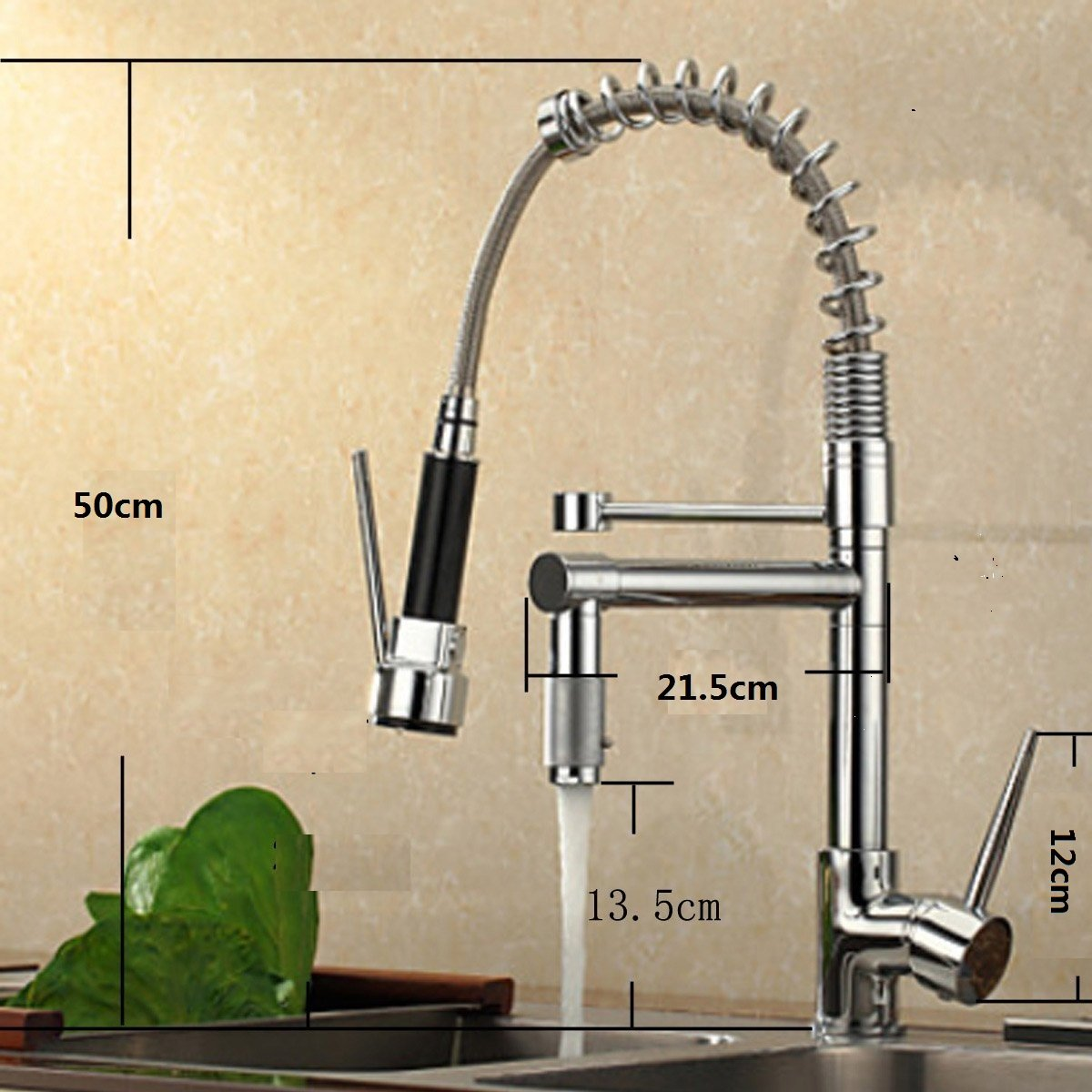 vdomus single handle pullout spray kitchen faucet with spout
