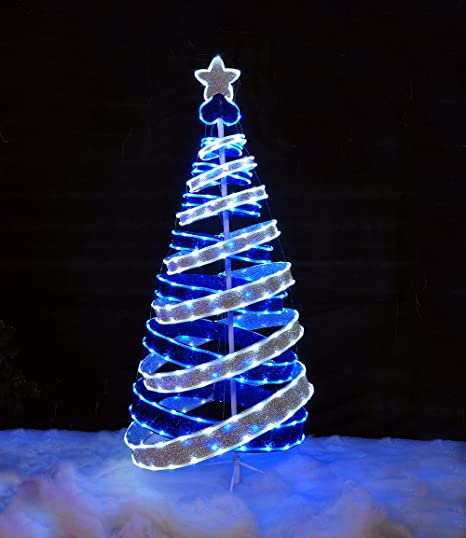 Kingfisher Prtree Pop Up Ribbon Christmas Tree Transparent Amazon