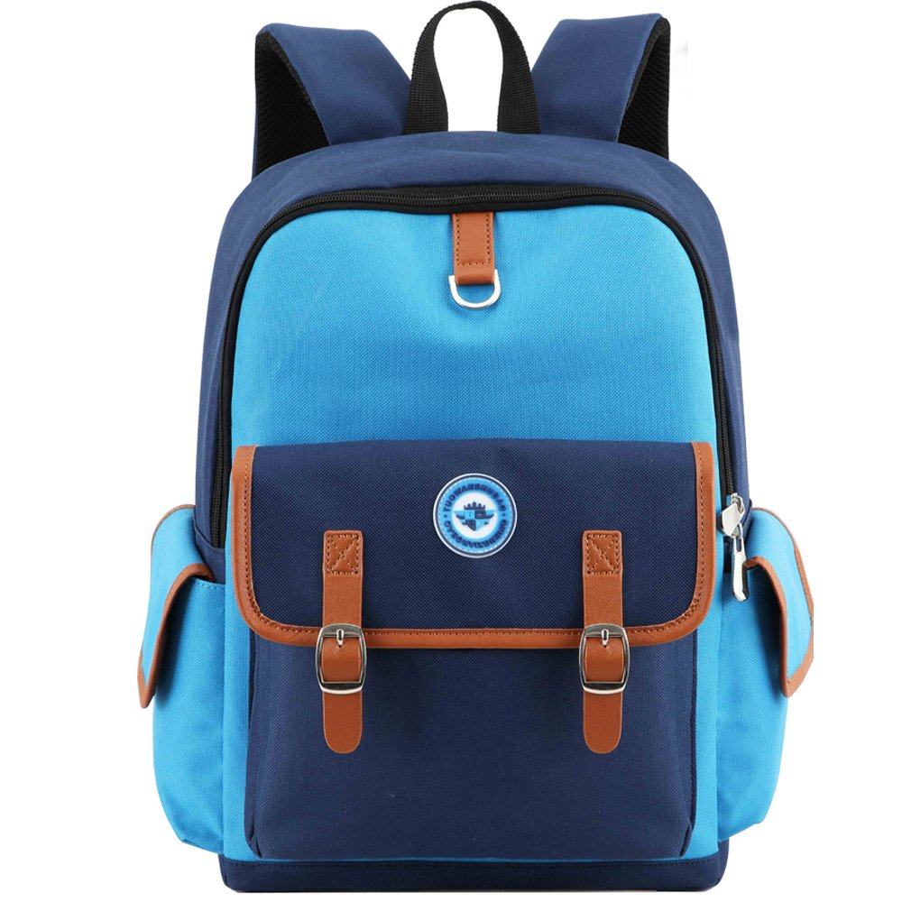 HITOP backpack for boys, bookbag for school kids boy & girl cute & lightweight (Blue, Small) by HITOP