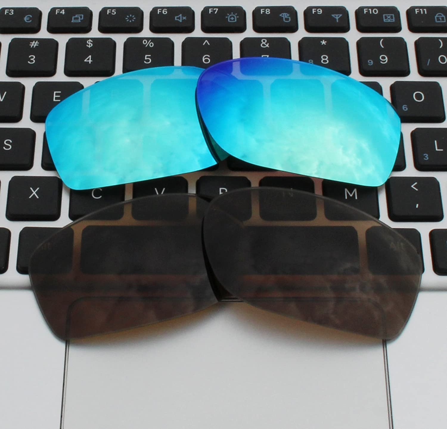 70e66a65770 COLOR STAY LENSES 2 Pairs 2.0mm Thickness Polarized Replacement Lenses  Brown   Blue for Oakley larger image