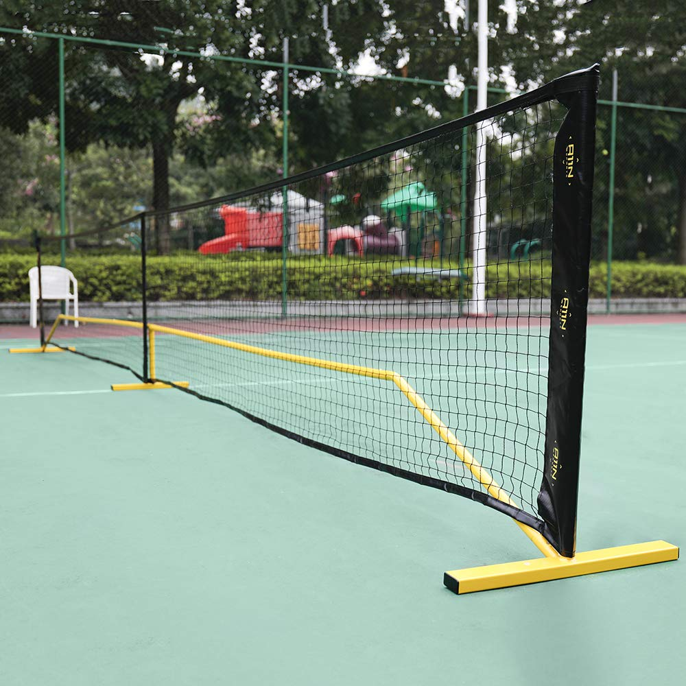 """A11N Portable Pickleball Net System, Designed for all Weather Conditions with Steady Metal Frame and Strong PE Net, Regulation Size Net with Carrying Bag- 22' Wide x 36"""" Tall, Indoor/Outdoor Use by A11N SPORTS (Image #5)"""