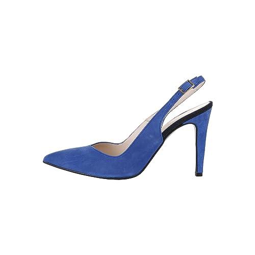 Trussardi Blu scarpe di camoscio tacco Altezza 10cm Donna