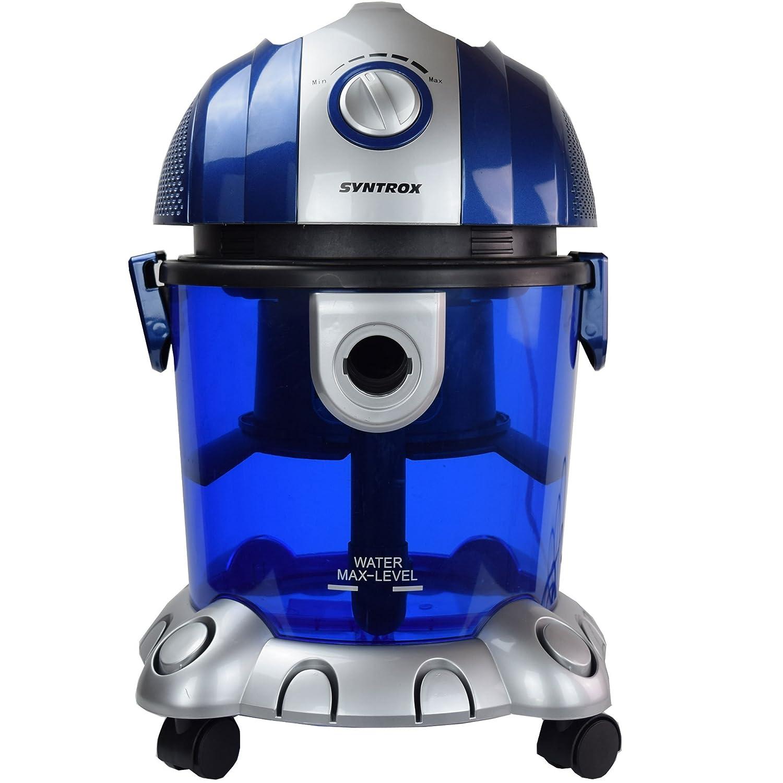 Syntrox Germany - WS de 2500 W Neptun - Aspiradora con filtro de agua seco y húmedo aspirador: Amazon.es: Bricolaje y herramientas
