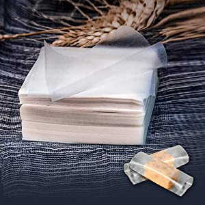 Edible Rice Paper Nougat Paper Package,1000 Sheets Glutinous Chocolate DIY Home Candy Wrappers for Food Decoration (2.55x3.14 in)