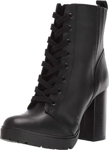 black leather steve madden boots
