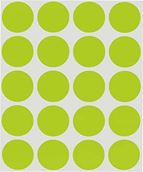 Amazon Com Chromalabel 1 Inch Round Permanent Color Code Dot