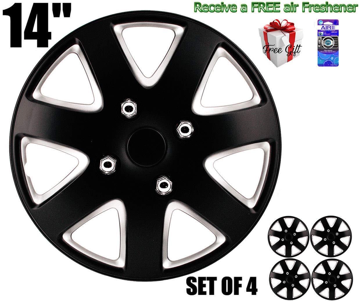 Amazon.com: SUMEX 50589BS Universal Fit Silverstone Wheel Trims 13-inch - Black/Silver Set of 4: Automotive
