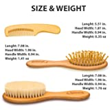 Wooden Baby Hair Brush Set with Natural Goat