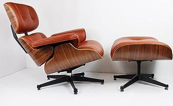Premium Stuhl und braun Lounge Leder Ottoman Platinum xoCWEQrBde