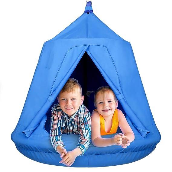 amzdeal Nestschaukel Hängematte Kinder Hängesessel Hängehöhle Hammock Outdoor & Indoor Wasserdicht Hängenest Schaukelstuhl,in