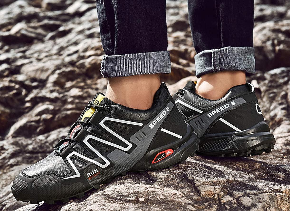 Zapatos de Trekking para Hombre Zapatillas de Deporte Zapatillas de Senderismo Transpirables Zapatillas de Deporte Antideslizantes para Exteriores