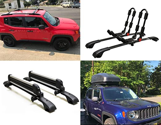Amazon.com: BRIGHTLINES 2015-2019 Jeep Renegade Aero Crossbars Roof Racks: Automotive