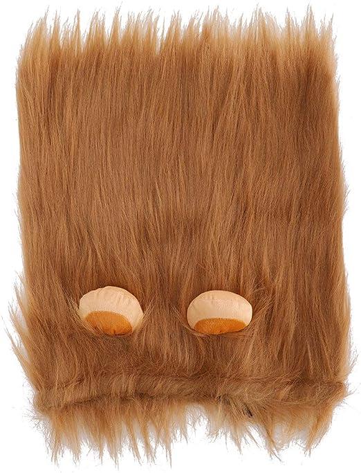 Peluca de Melena de león Ajustable Peluca de Melena de león Disfraces de Perro Pelo de león de fantasía para Disfraces de Halloween Fiesta de Fotos Sesiones Festival(L-marrón): Amazon.es: Productos para mascotas