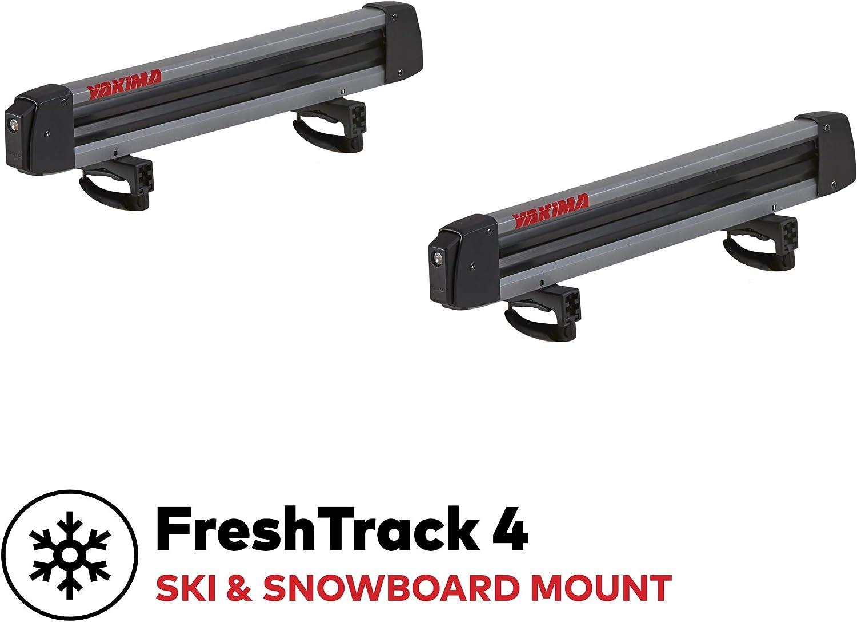 YAKIMA, FreshTrack Ski & Snowboard Mount, Fits Most Roof Racks, 4 Ski Pairs/2 Snowboards