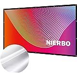 プロジェクタースクリーン 持ち運び 折り畳み式 100インチ 16:9 シワなし 投影用 ホームシアター 会議 映画 スクリーン(34%の光透過率)