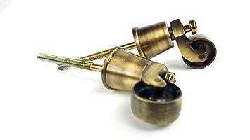 Knightsbrandnu2u 2 Ruedas de latón Envejecido con un Perno de 170 – 180 mm para Muebles