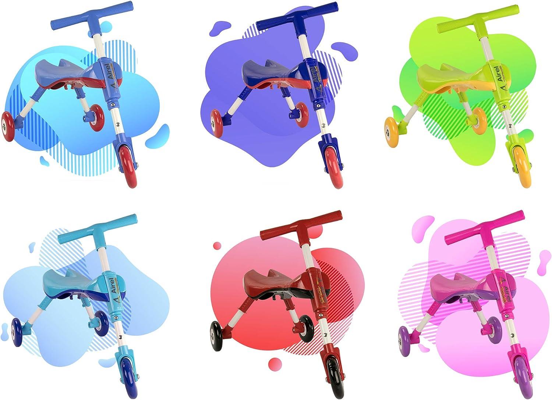 Carrellino Primi Passi Camminatore Bambini Bicicletta Senza Pedali Airel Triciclo Bambini Pieghevole De 1 a 3 Anni Bicicletta Senza Pedali Pieghevole