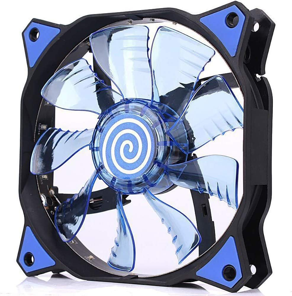 Atoking Silent CPU Cooler Air Cooling Anti-Shock LED Light Hydraulic Bearing Heat Dissipation Fan Brushed Nickel Fins 1 Pack